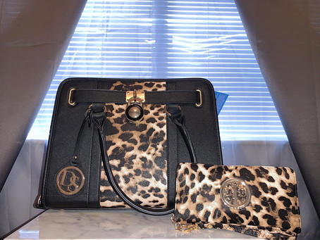 My New Leopard Dasein Purse + Wallet