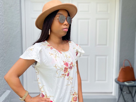 Floral Print Top From Amazon