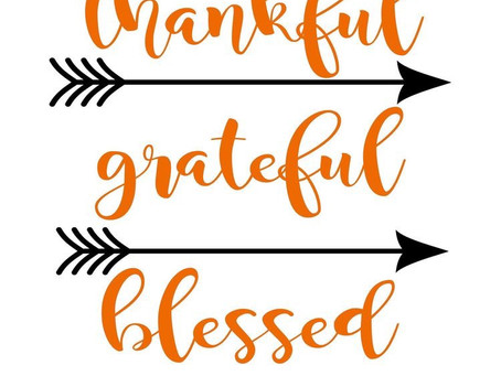 Thankful|Grateful|Blessed:Things I'm Thankful For