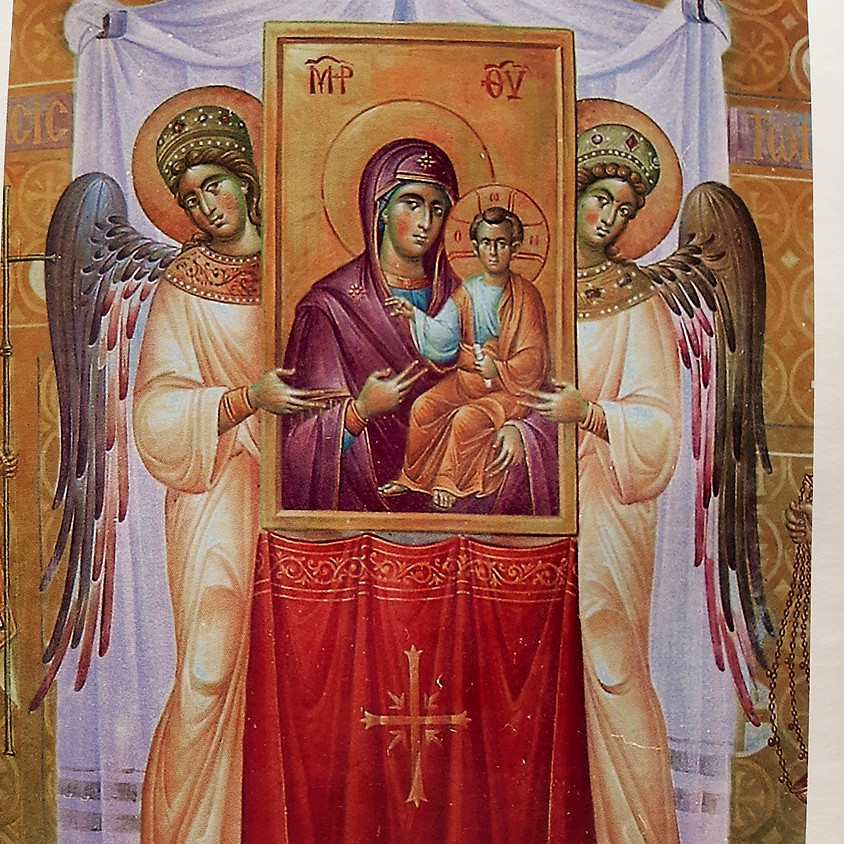 """Unveiling of the Giclee fresco of  """"The Restoration of the Icons'"""