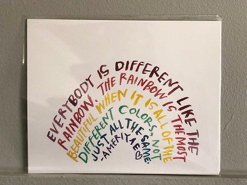 """Different Rainbow"""