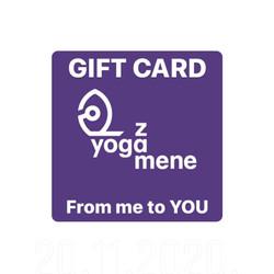 GIFT CARD Yoga za mene yogazamene