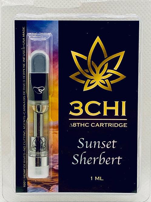 """3 CHI Delta 8 THC Vape Cartridge -""""Sunset Sherbet""""- (CDT)"""