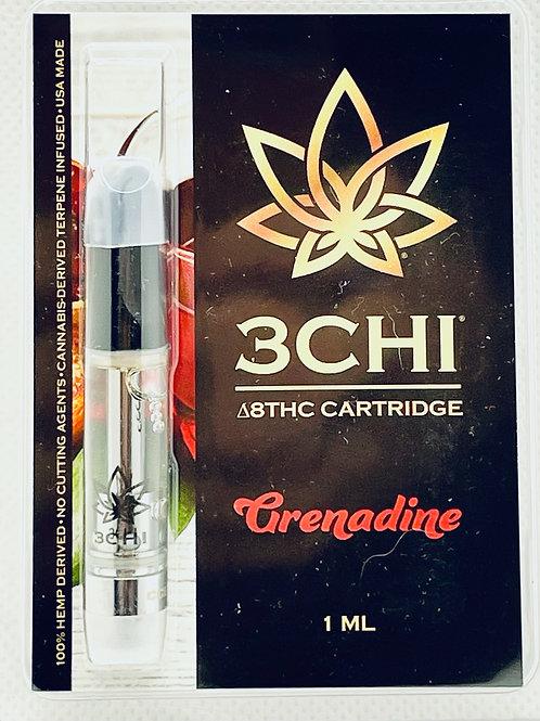 """3 CHI Delta 8 THC Vape Cartridge -""""Grenadine """"- (CDT)"""