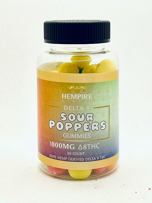 SOUR POPPERS 1000 MG DELTA 8 GUMMIES