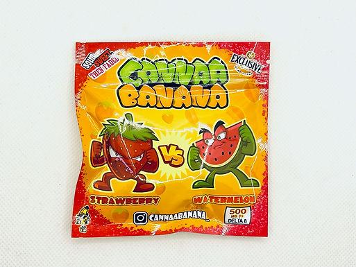 """CANNAA BANANA Delta 8 THC """"Watermelon vs. Strawberry"""""""