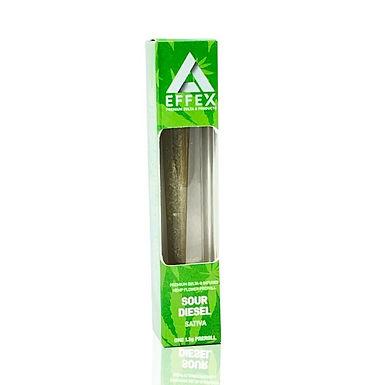 (2 Pack)SOUR DIESEL PREMIUM DELTA 8 THC INFUSED HEMP FLOWER - PREROLL
