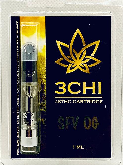 """3 CHI Delta 8 THC Vape Cartridge -""""SFV OG""""- (CDT)"""