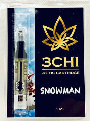 "3 CHI Delta 8 THC Vape Cartridge -""Snowman""- (CDT)"
