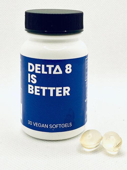 DELTA 8 IS BETTER – 25 MG VEGAN SOFTGELS – 30 CT BOTTLE