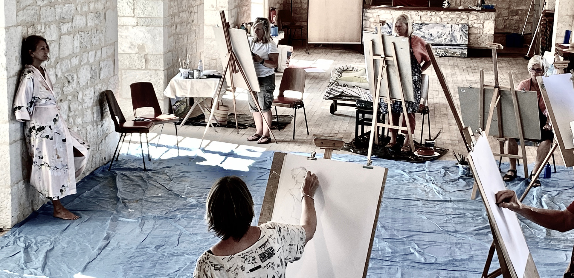 Life Drawing Classes in the Chateau
