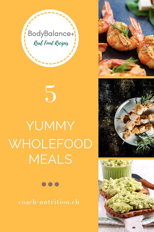 Yummy Wholefood Lunches or Dinners