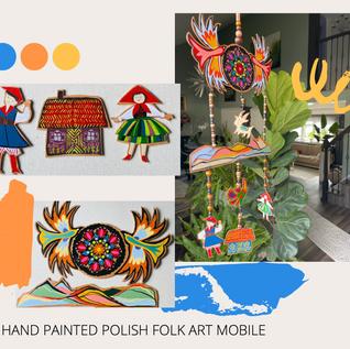 Polish Folk Bird Mobile