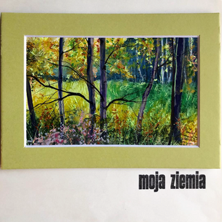 Mixed Media works from series My Land Moja Ziemia 5x7 by Natalia Dzoba (Polish) available for purchase, inquire via e mail pasnatalia@aol.com $50