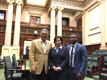 Meeting with the former  Victorian Parliament Speaker.