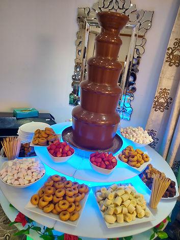 Chocolate Fountain, 5 Tier choclate fountain, Large chocolate fountain, LED chocloate fountain, choclate fountain dips