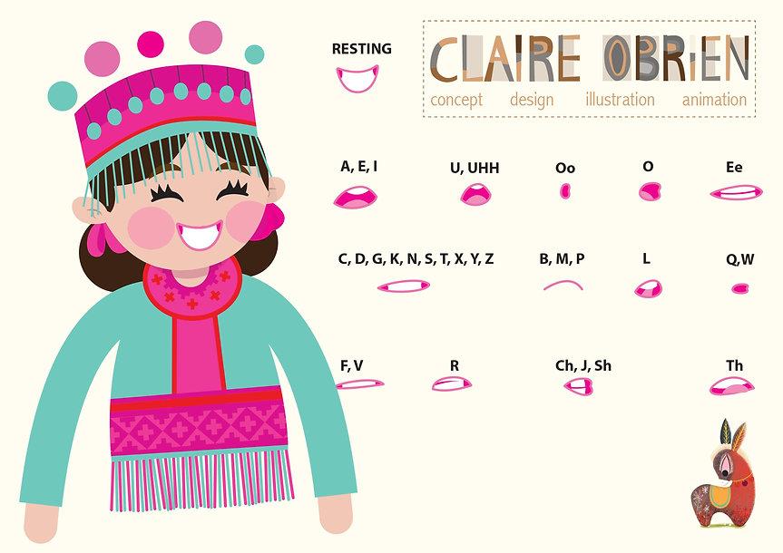 Character Lip Sync Claire O'Brien Illustration
