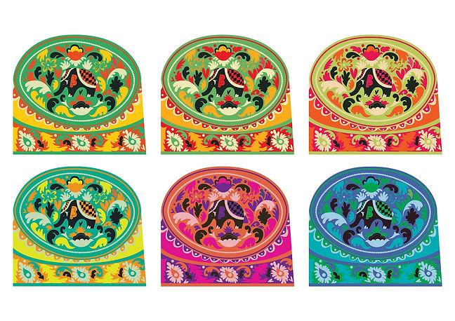 Cambodian Elephant Box (Variations) Illustration Dazhka Claire