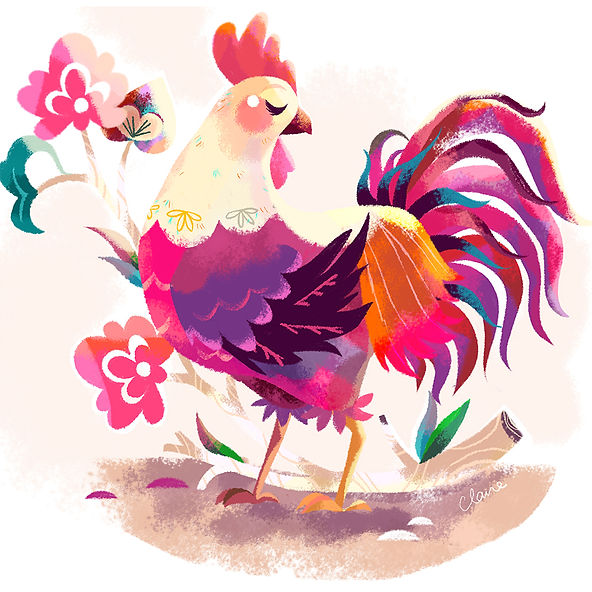 Chinese New Year of the Rooster 2017 Illustration