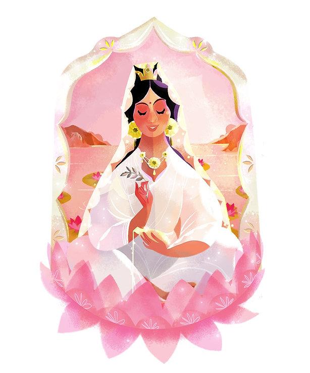 Goddess Kwan Yin Claire OBrien Illustration