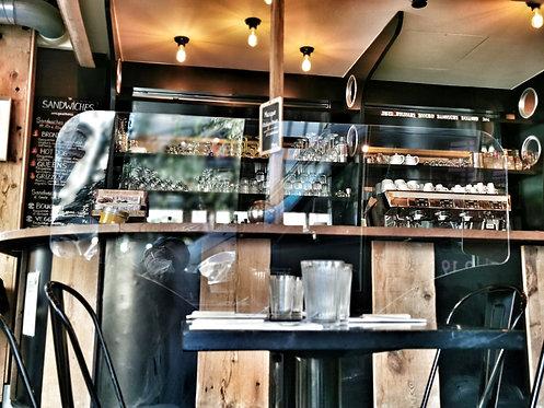 séparateur pour table de restaurant transparent