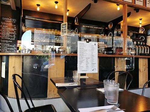 Séparateur de table transparent pour restaurant