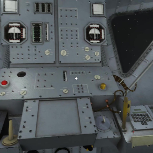 View of Lunar Module's carefully-rendered interior