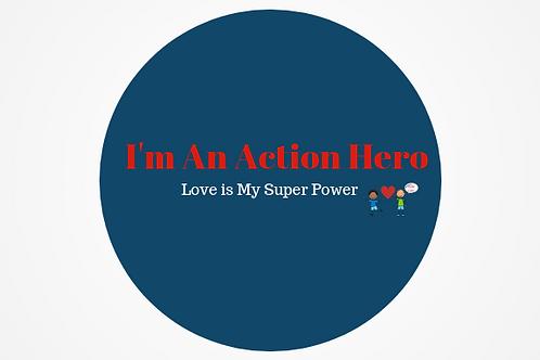 Action Hero Sticker