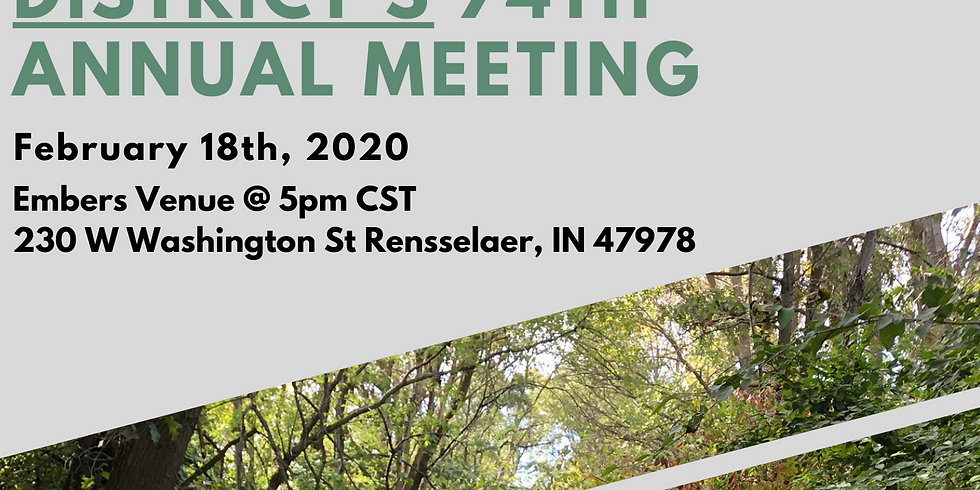 Jasper County Soil and Water Conservation District's 74th Annual Meeting