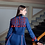 Thumbnail: Jacket with tassels in Dark blue with Charm of Life embroidery
