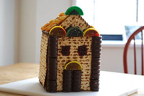 Make a Matzah House (the Pesach version of a gingerbread house)