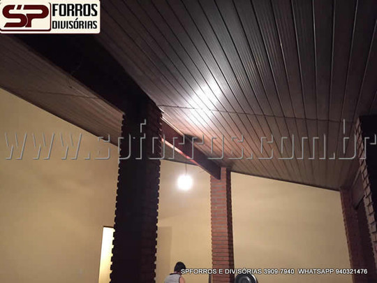 sp forros pvc cor de madeira no morumbi