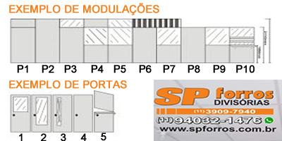modulação divisória eucatex sp forros