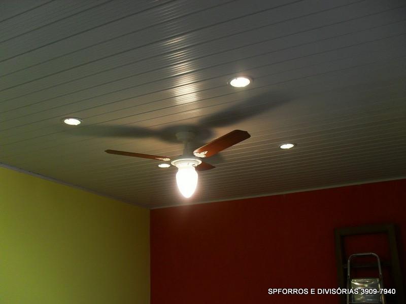sp forro pvc com luminarias LED