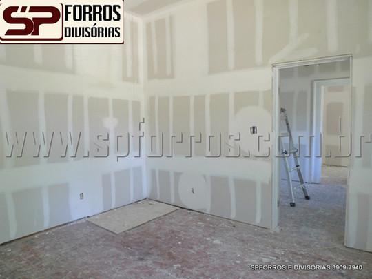 paredes em drywall para divisões em piri