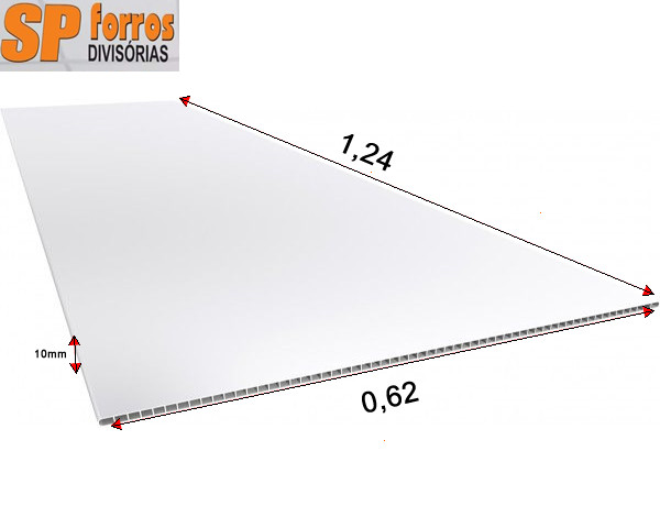forro pvc modular 10 x 625 x 1250mm em p