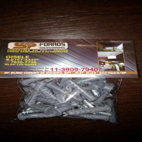 Conjunto 25pçs parafuso e bucha 6mm para rodaforro