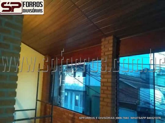 sp forros pvc cor de madeira na vila rom