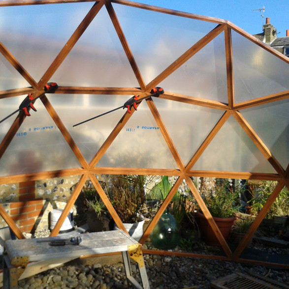 Dome frame build