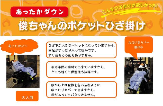 あったかダウン俊ちゃんのポケットひざ掛け 発売再開1周年記念 キャンペーン
