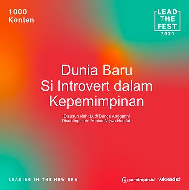 Dunia Baru Si Introvert dalam Kepemimpinan