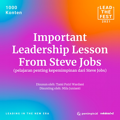 Important Leadership Lessons from Steve Jobs