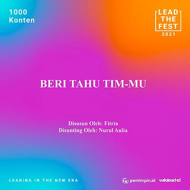 BERI TAHU TIM-MU