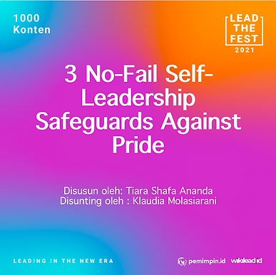 3 No-Fail Self-Leadership Safeguards Against Pride
