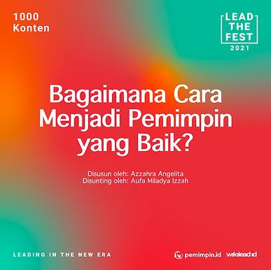 Bagaimana Cara Menjadi Pemimpin yang Baik?