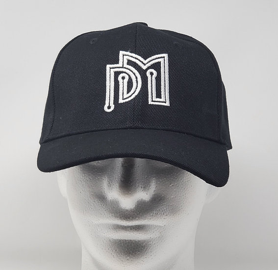 Black Embroidered DM Web Services Cap (White Letters)
