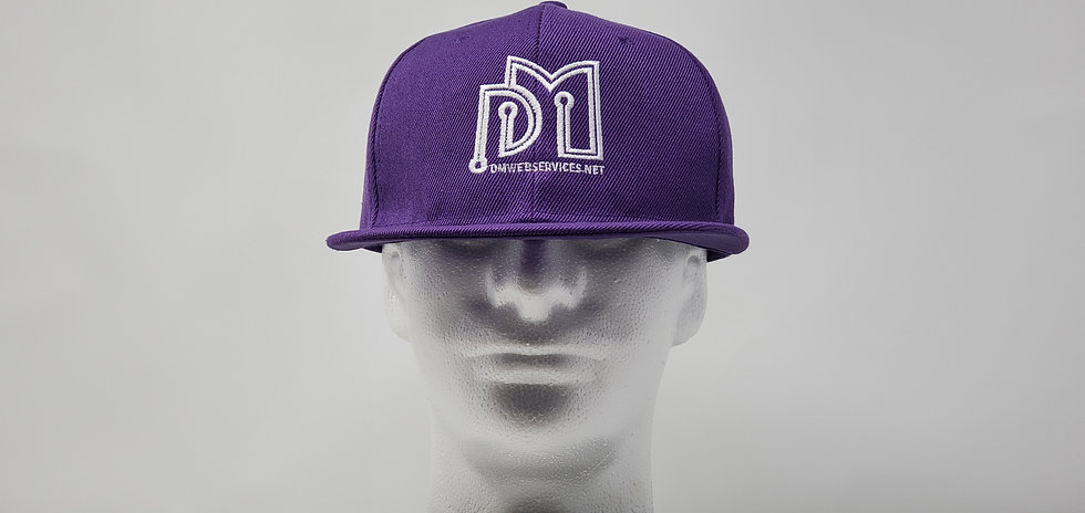 Purple Embroidered DM Web Services Snapback
