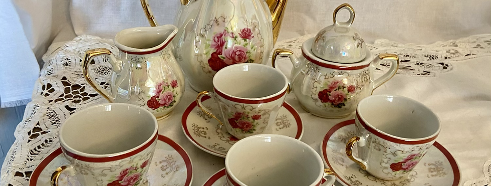 Victorian Miniature Tea Set- FREE SHIPPING!