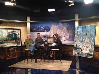 Artist Robert Spooner and Doug Kacena on 9news