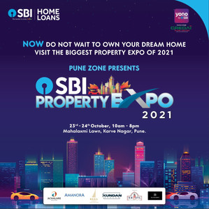 SBI Home Loans to hold Pune's biggest property expo at Mahalaxmi Lawns, Karve Nagar on 23-24th 2021